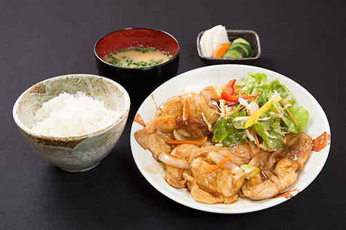 栃木豚ロースしょうが焼き定食